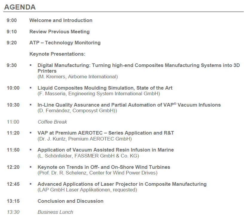 Agenda ATP Workgroup AZL