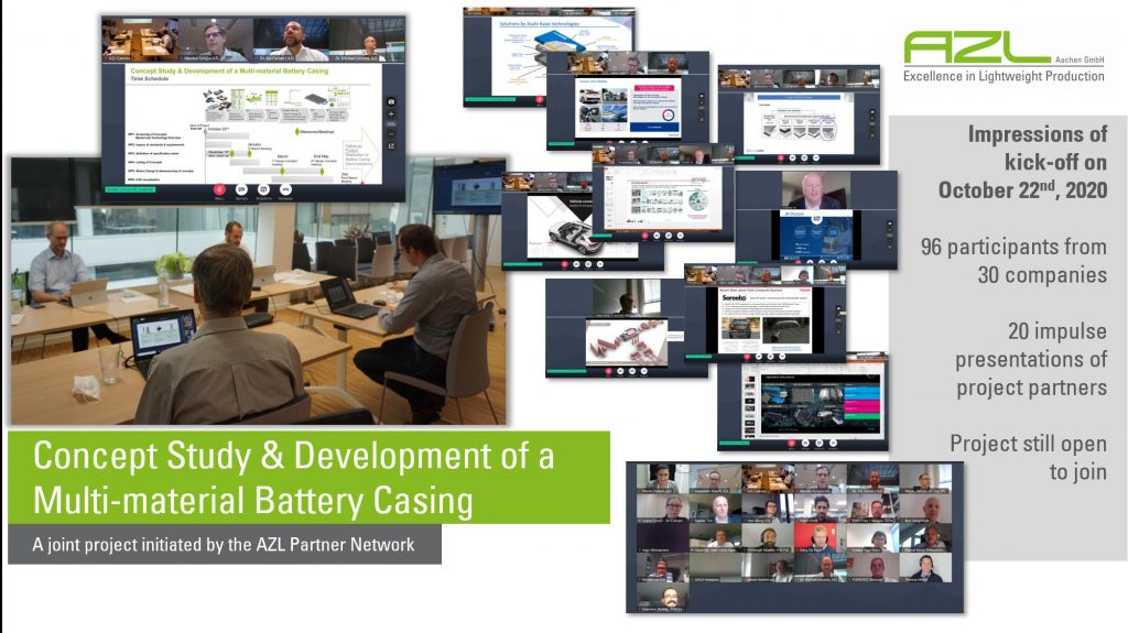 Impressions of the Project kick-off for the joint Battery Casing development